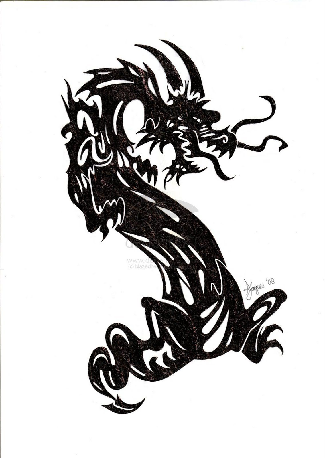 Chinese Tattoos - Tribal Dragon Chinese Ideas:Slodive ...