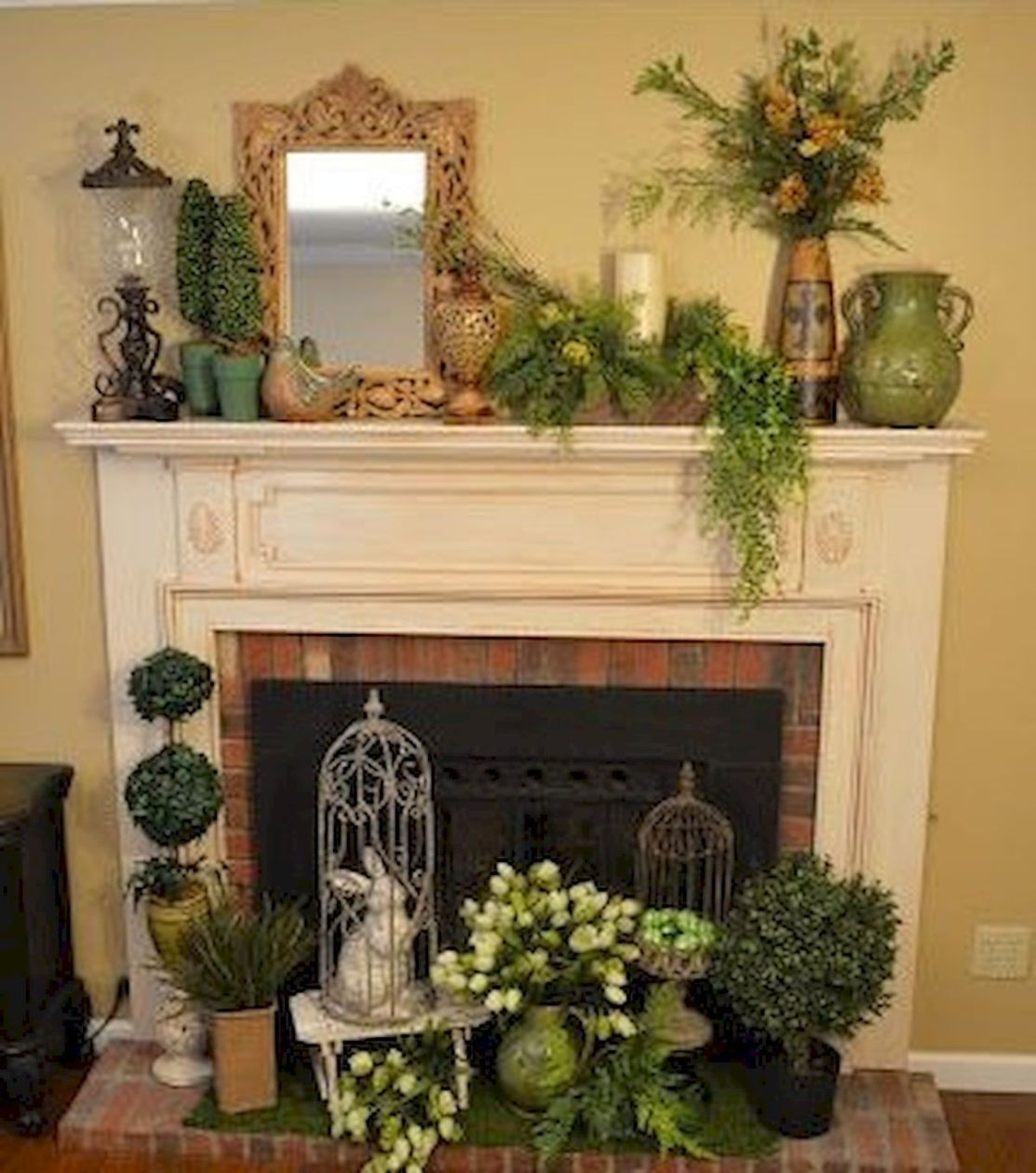 35 Best Easter Fireplace Mantle Decor Ideas 26 Fireplace Mantle