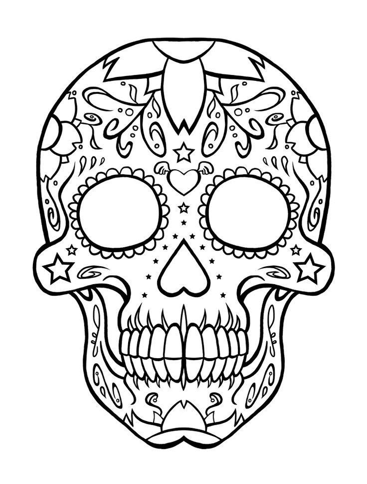 sugar skull coloring pages | Dremel | Pinterest | Dia de las muertos ...