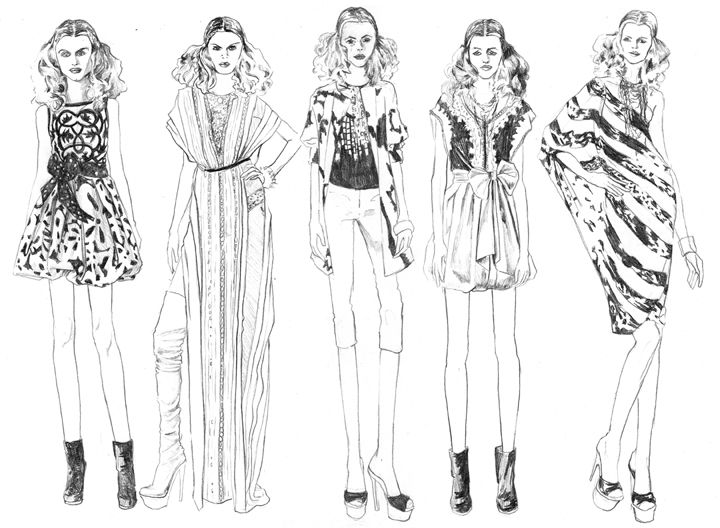 maggie and the shallow skin holes fashion illustration