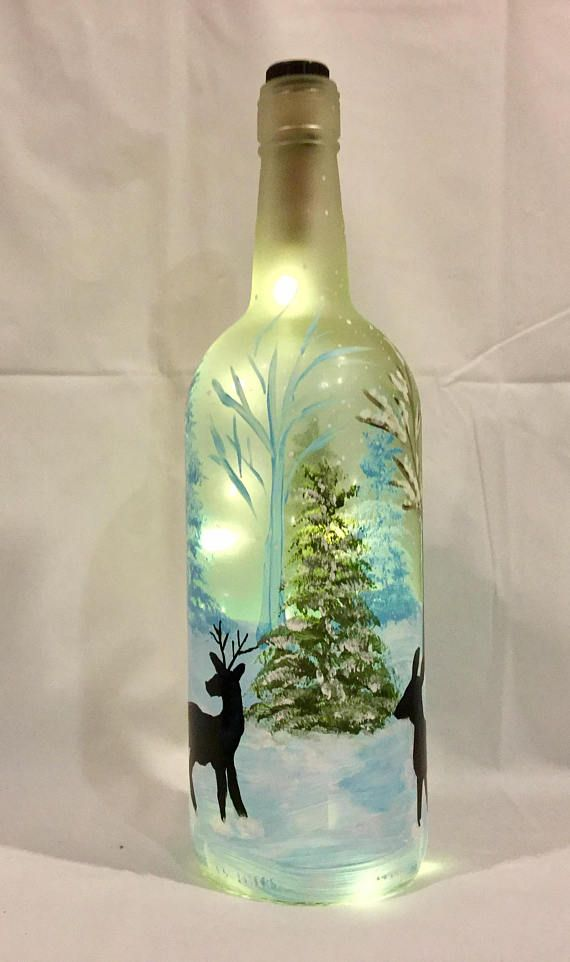 Deer Bottle Light Winter Bottle Light Hand