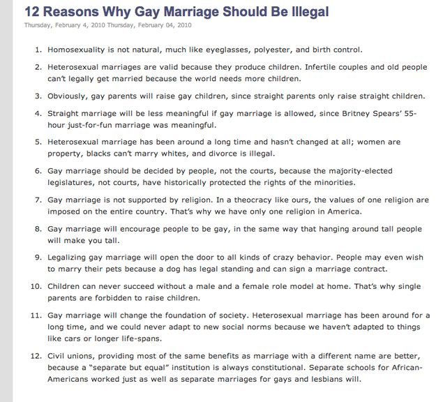 from Allen 12 reasons gay marriage