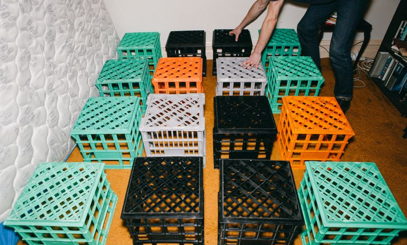 Make Milk Crate Bed Base Three Thousand Crate Bed Milk