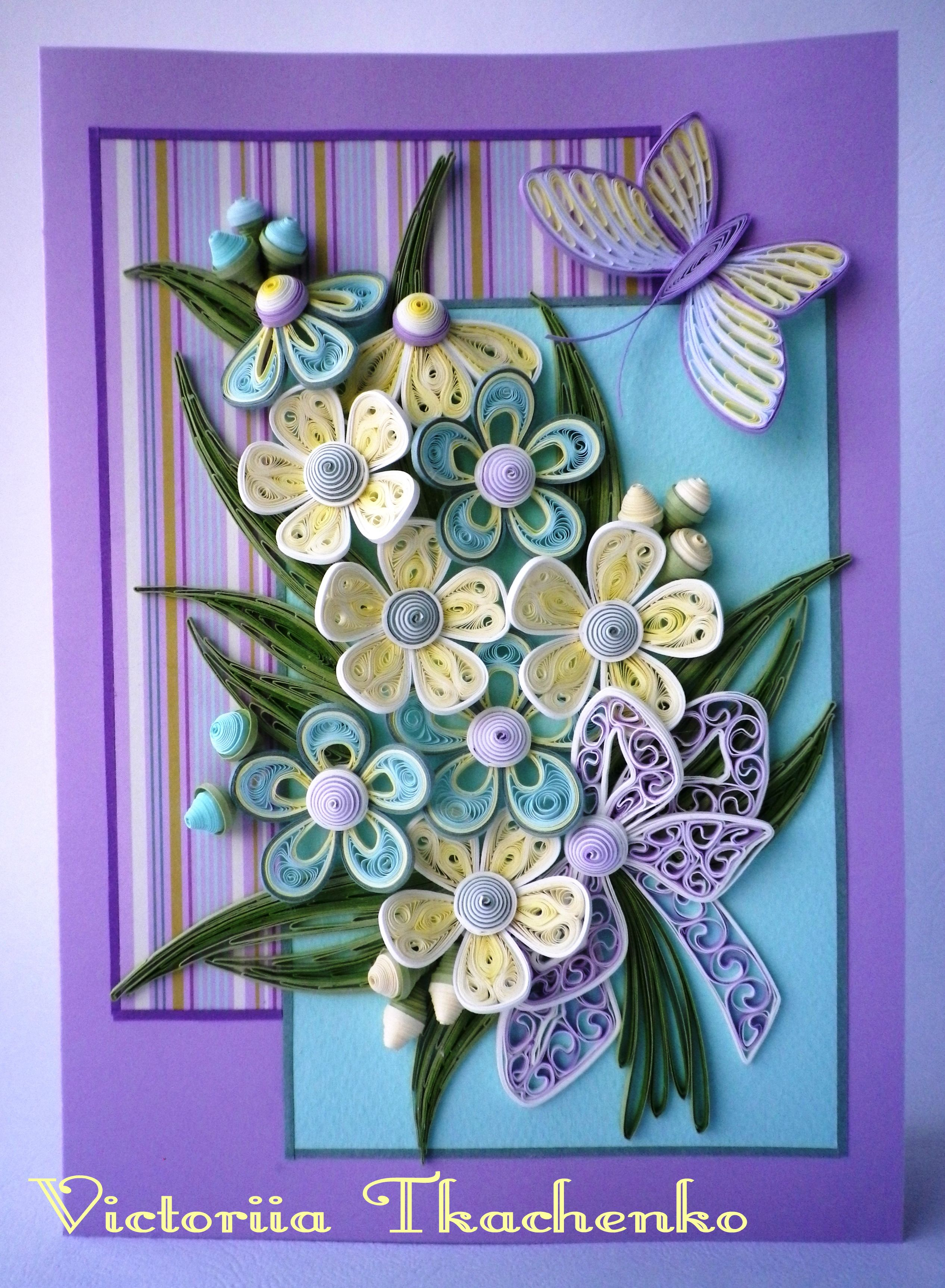 Quilling greeting card Quilling Pinterest