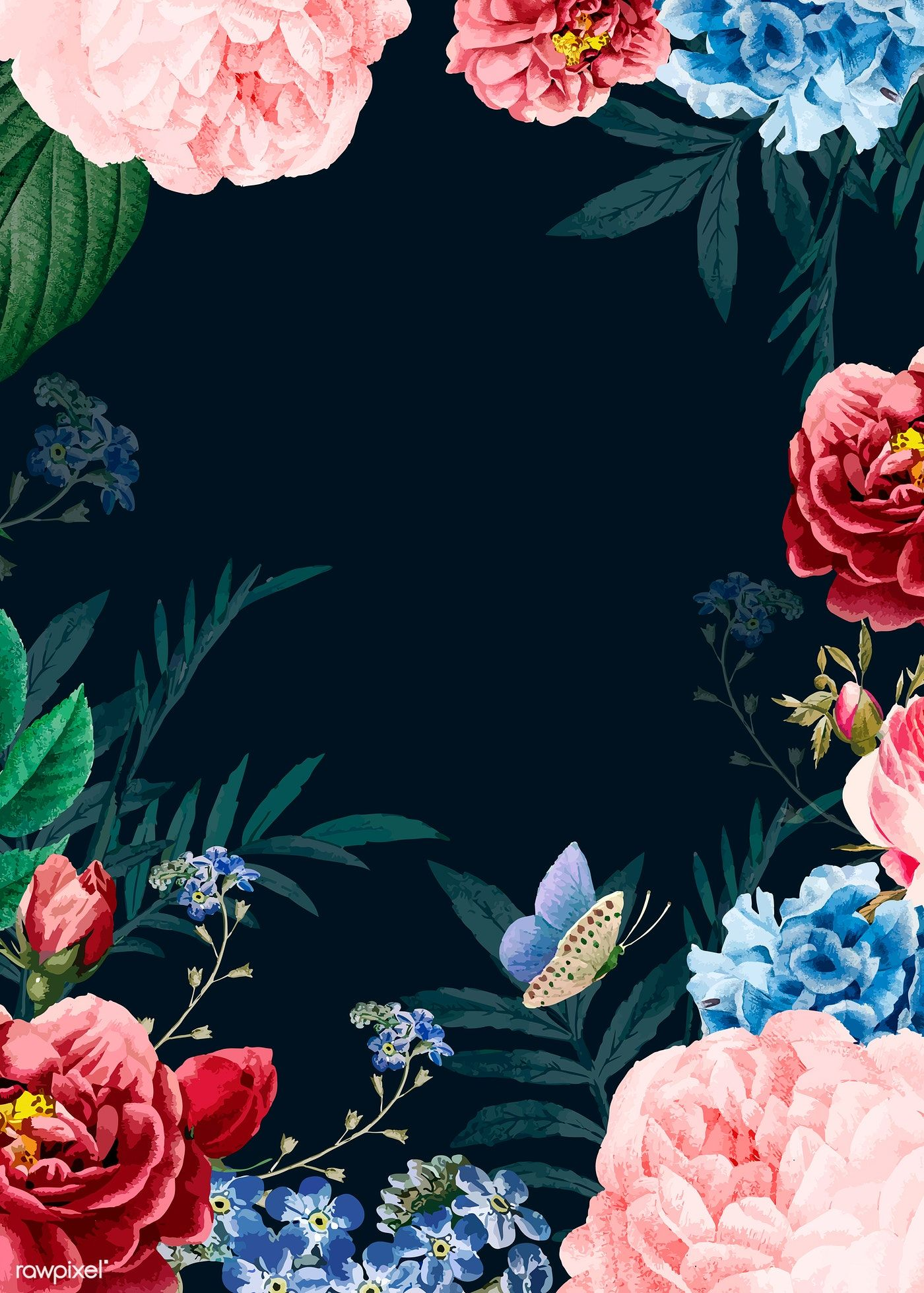 Download Premium Vector Of Blooming Elegant Floral Background