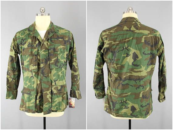 bbf793cd 1970s Vintage Camouflage Shirt / US Army Fatigues / ERDL Woodland Camo /  Special Forces Camo / US Army Camouflage / Erdl Blouse / Airsoft  #VintageMilitary ...
