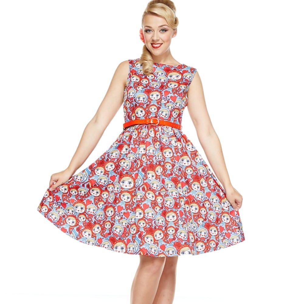 Audrey\' Russian Doll Print Swing Dress | lindy bop love | Pinterest