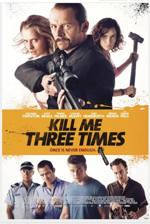 영화 kill me three times 포스터