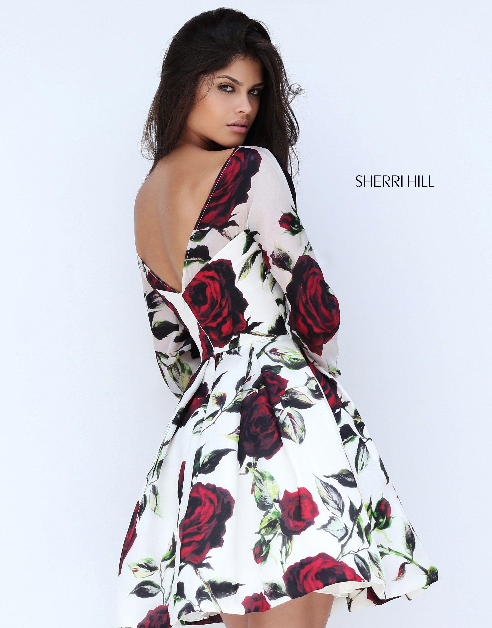 Sherri Hill 50825 Prom Dress. #sherrihill #promdress #prom #flowers