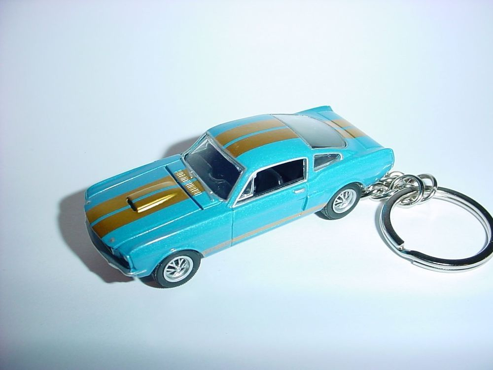 New D Blue  Ford Mustang Shelby Gt Custom Keychain Keyring Key Gt  Unbranded
