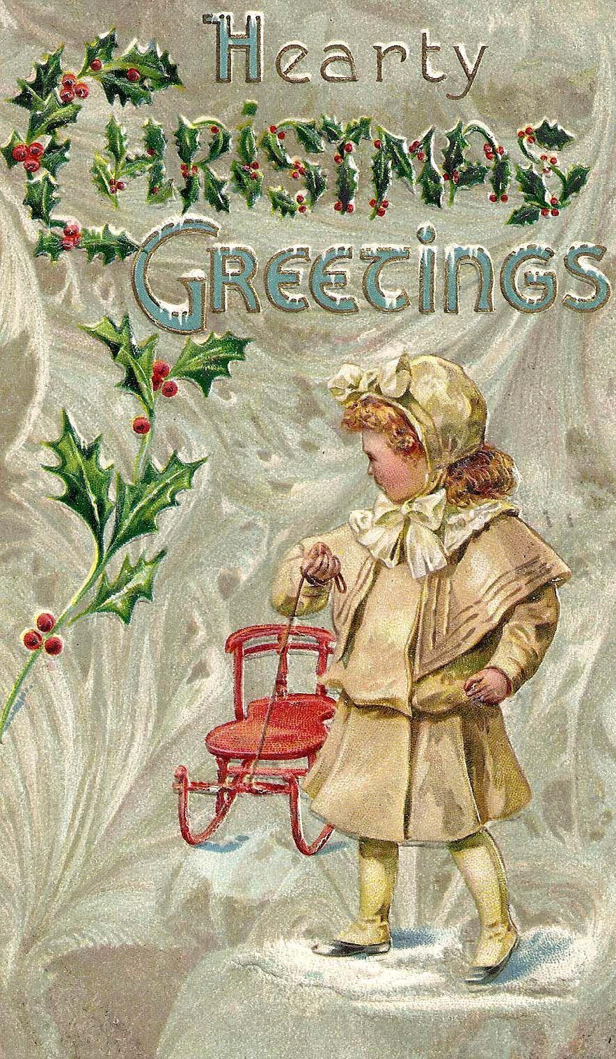 christmas greetings vintage postcard christmas. Black Bedroom Furniture Sets. Home Design Ideas