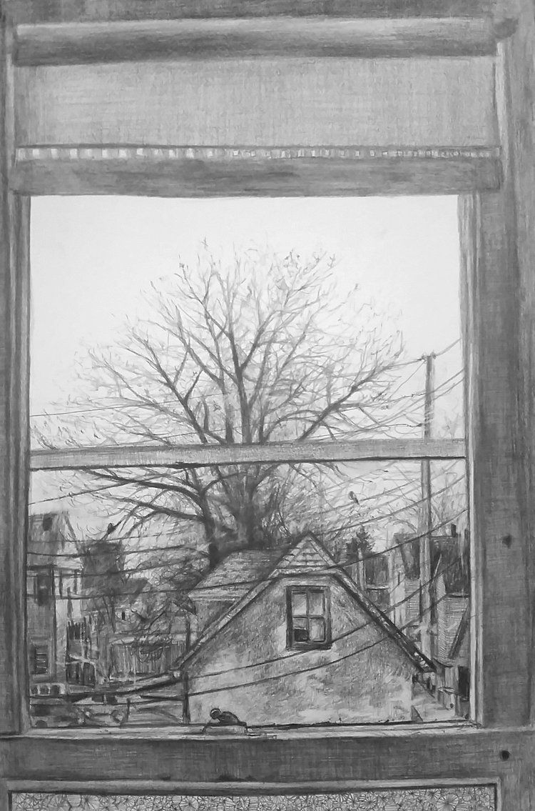 Drawing a View through a Window - The Arty Teacher