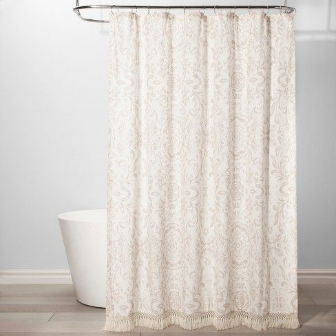 Exploded Floral Shower Curtain White Threshold Target