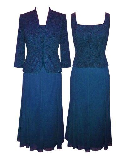 Alex Evenings Plus Size Sparkle Jacquard Dress And Jacket