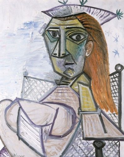 Femme assise dans un fauteuil, Pablo Picasso, 1941 | Interim art ...