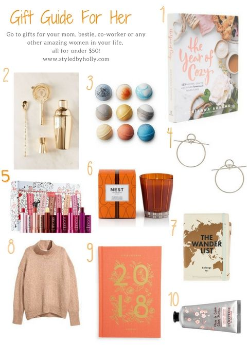 Gift Guide For Her: Under $50! | Gift guide, Gifts for ...