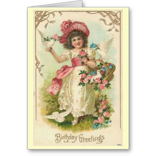 Victorian Birthday Card Zazzle Com Vintage Easter Cards Vintage Cards Vintage Postcards
