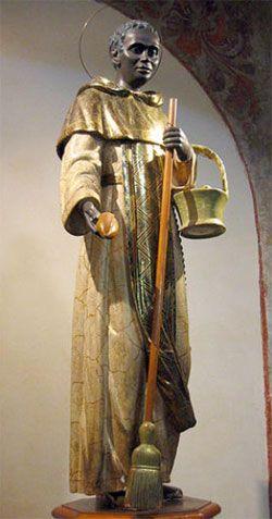 Roman 5029-8 Martin de Porres Statue St 3.5 Ceramic Painted
