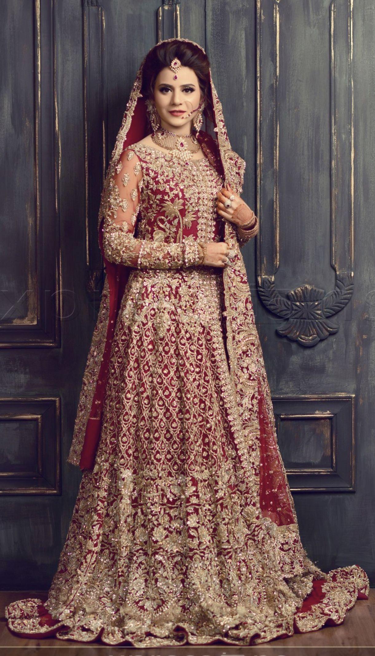 Barat bride wearing republic womens wear pakistani
