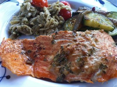 Sassy herbed salmon on the grill. / CNHI
