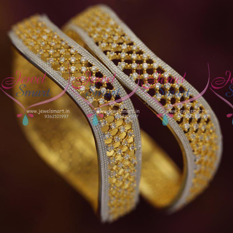 Broad Diamond Finish Bangles | sHaAdi ♤jeWellery | Pinterest ...