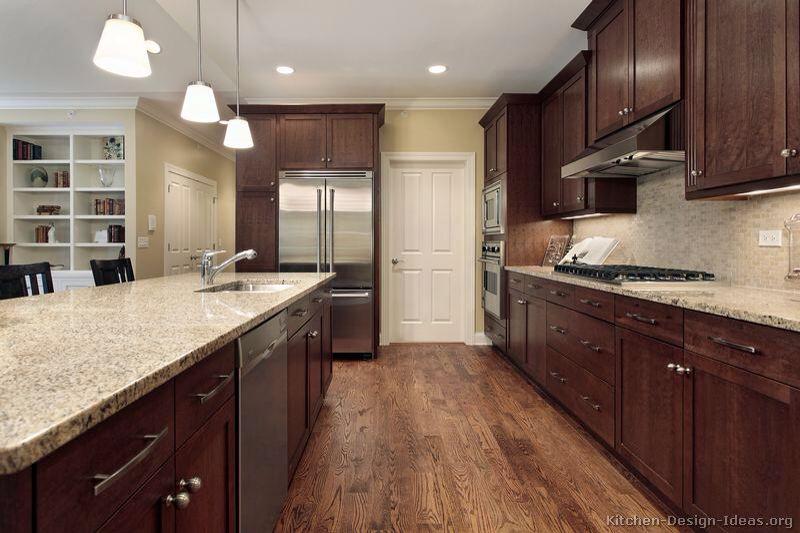 46 Kitchens With Dark Cabinets Black Kitchen Pictures Wood Floor Kitchen Walnut Kitchen Walnut Kitchen Cabinets