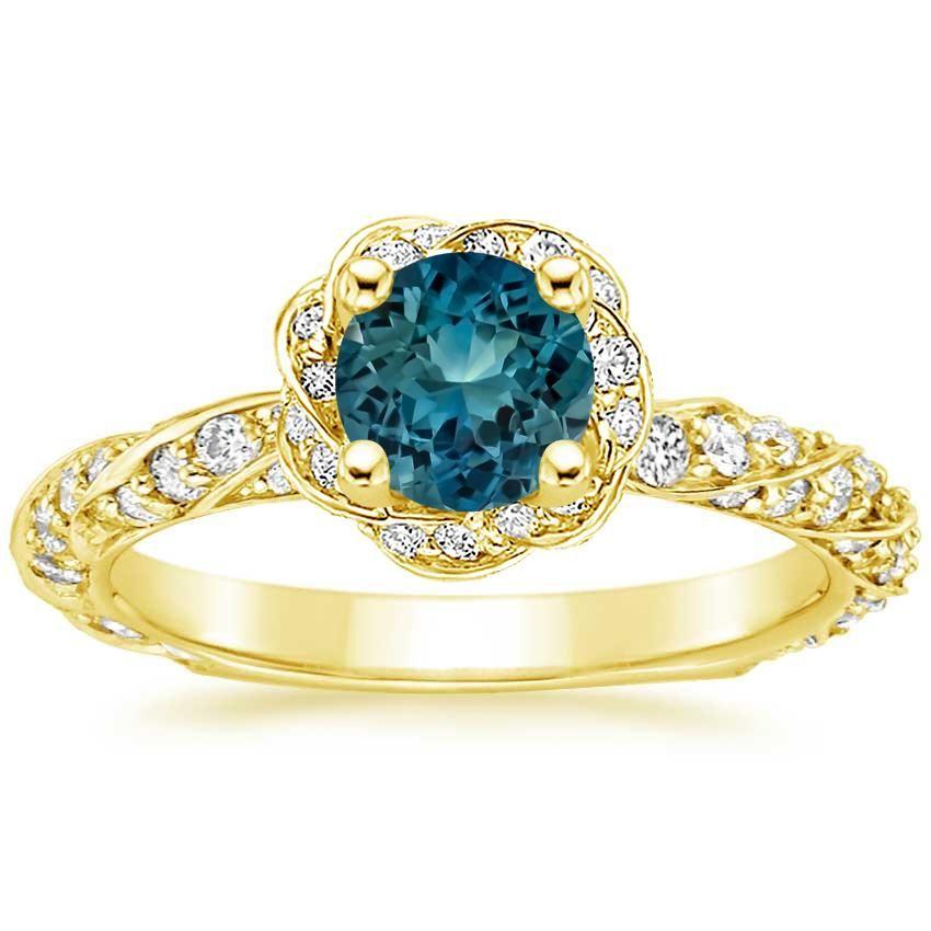Sapphire Cordoba Engagement Ring - 18K Yellow Gold