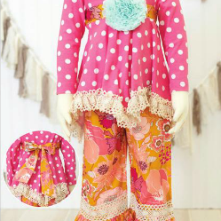 Peaches 'N Cream Pink Dots 2 piece from Freckles Children's Boutique for $84.00