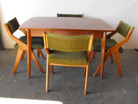 Mid Century Dining Table With Hidden Leaf Amsterdam Modern Mid Century Dining Table Mid Century Dining Set Mid Century Modern Dining Room Set