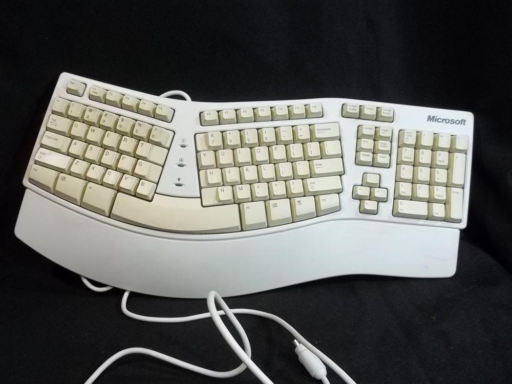 Microsoft Ergonmic Natural Elite Wired Keyboard Vintage Ps 2 Keyboard Elite Microsoft