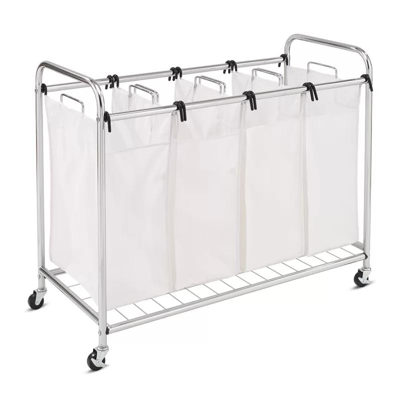 Heavy Duty Quad Laundry Hamper In 2020 Laundry Sorter Laundry