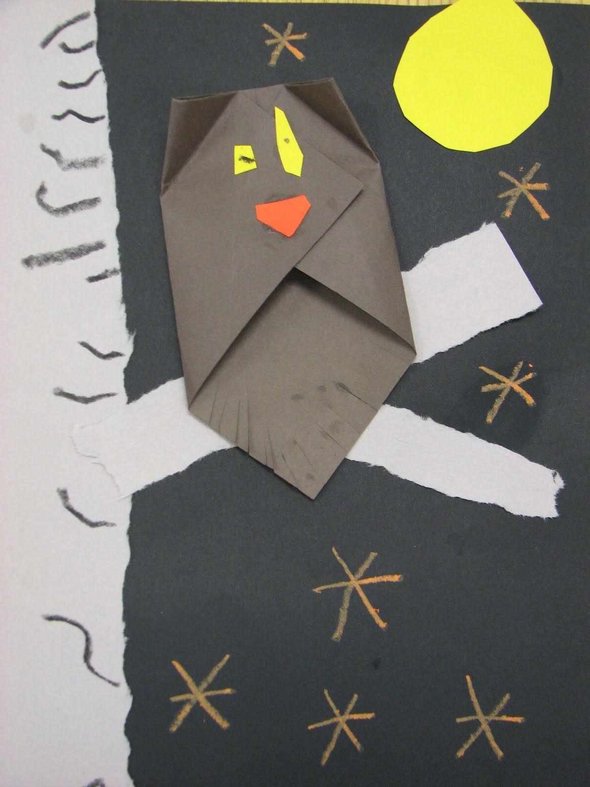Kindergarten Origami Owls Art Activities Lessons Pinterest