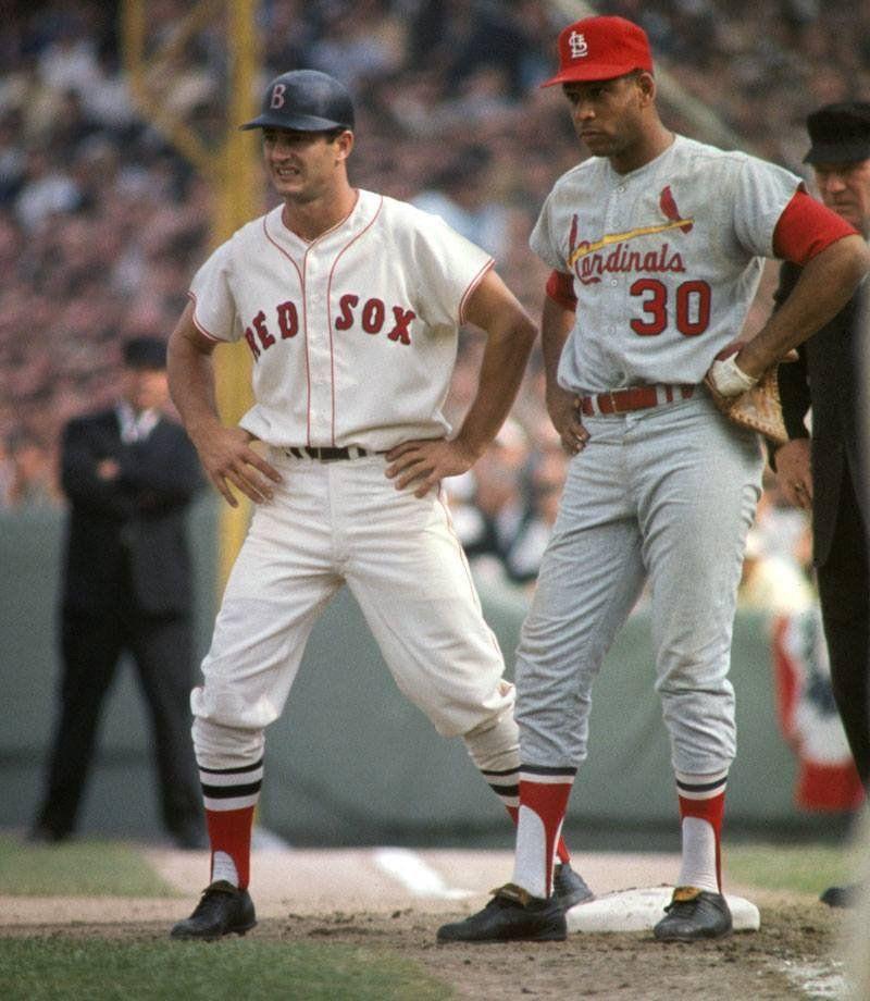 Carl Yastrzemski And Orlando Cepeda During The 1967 World Series BaseballBoys Red Sox Baseball