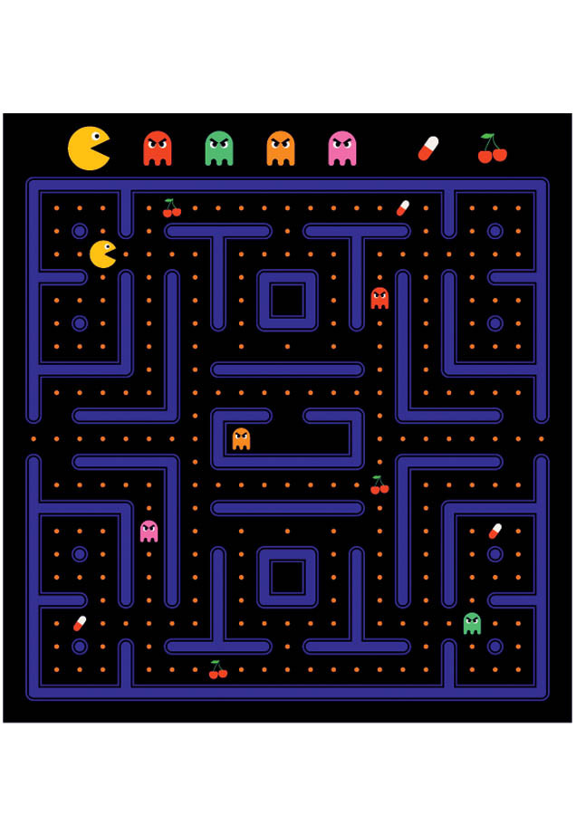 Pacman Game Wall Mural Murals Your Way Pacman Game Mural