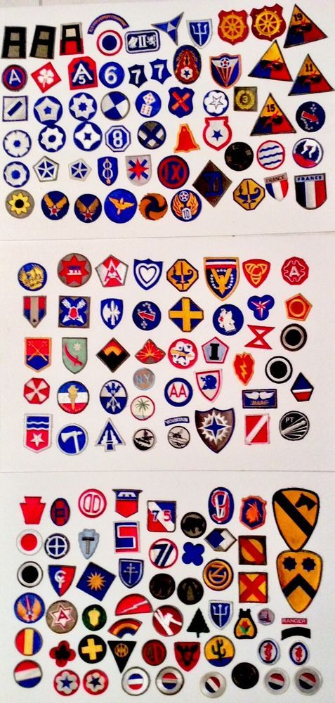 25 WW2 US Army World War Two Patches SSI WWII Military Patch