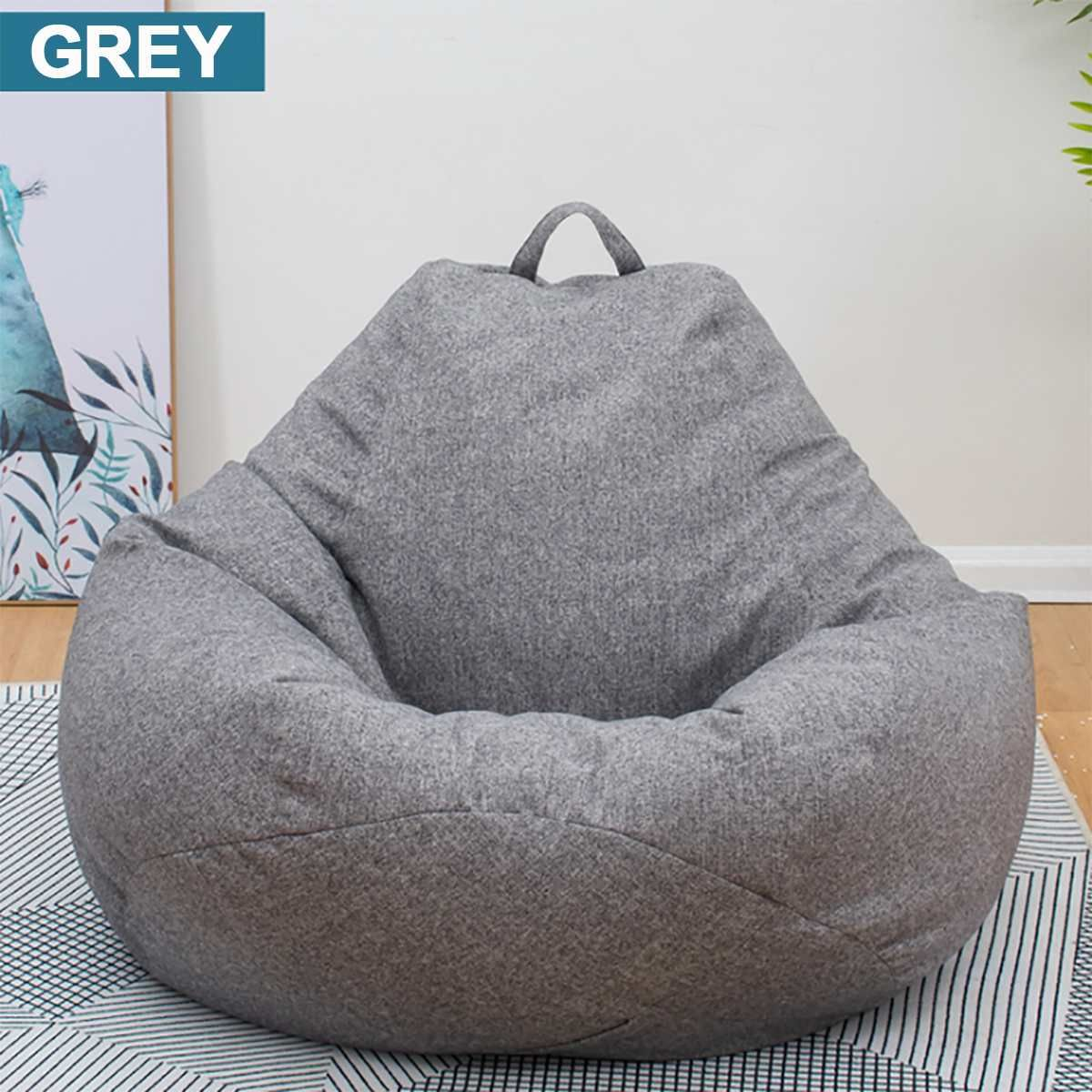 Large Small Lazy Beanbag Sofas Cover Chairs Without Filler Linen Cloth Lounger Seat Bean Bag Pouf Puff Couch T In 2020 Huge Bean Bag Chair Bean Bag Chair Bean Bag Sofa