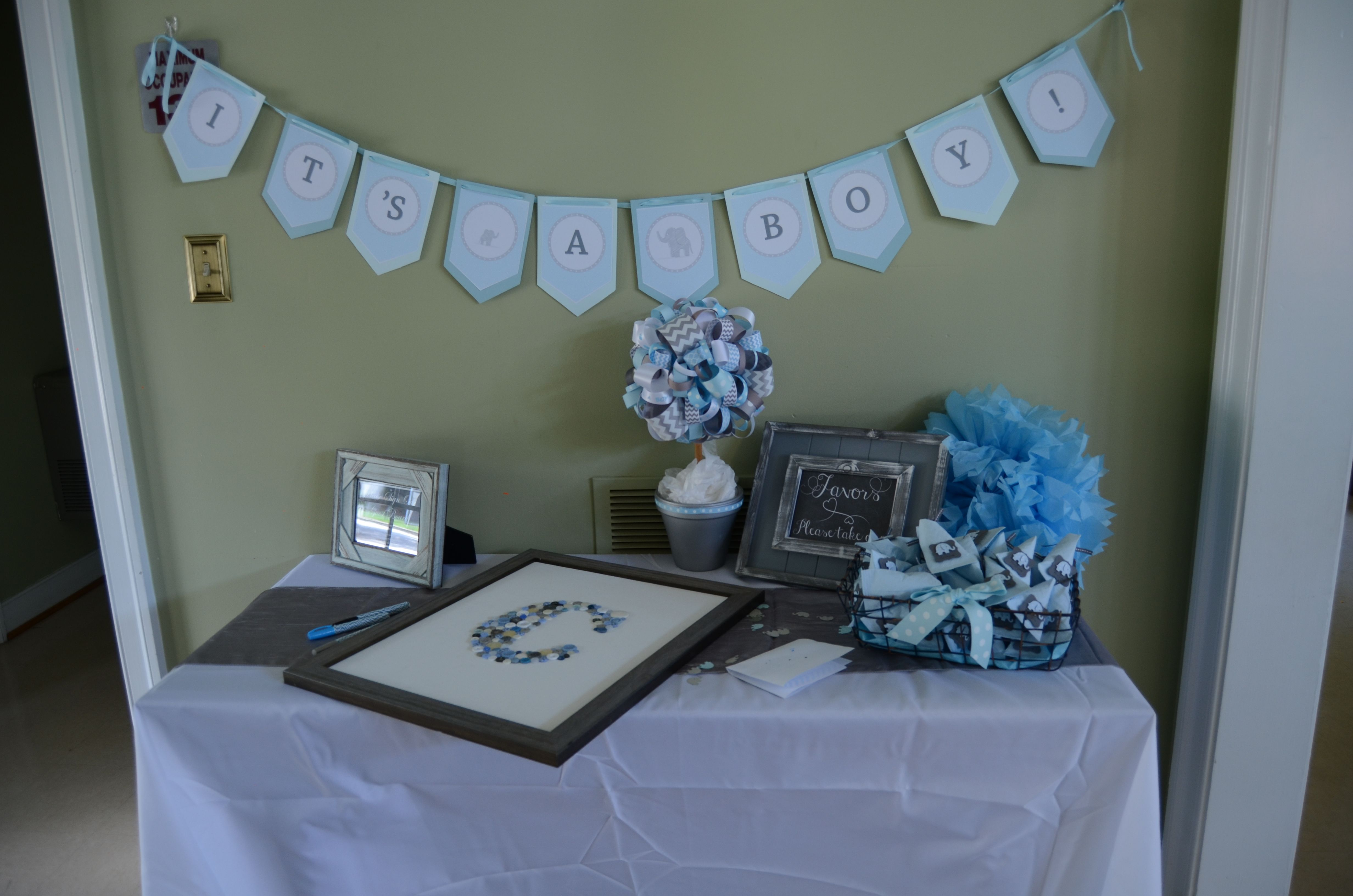 Entry Table with Guest Board and Favors