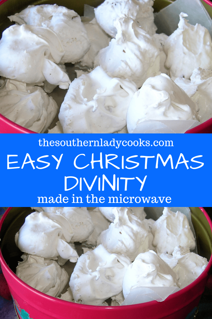 This divinity is so easy to make in the microwave and so good. You won't ever make it any other way again! Makes a great gift, too.