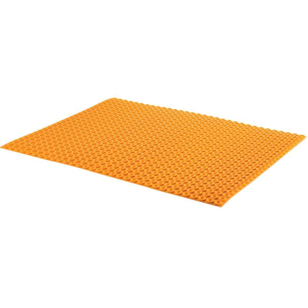 Schluter Ditra Heat 3 Ft 3 In X 2 Ft 7 In Uncoupling Membrane Sheet Dh5ma The Home Depot Underfloor Heating Mats Underfloor Heating Heat Mat