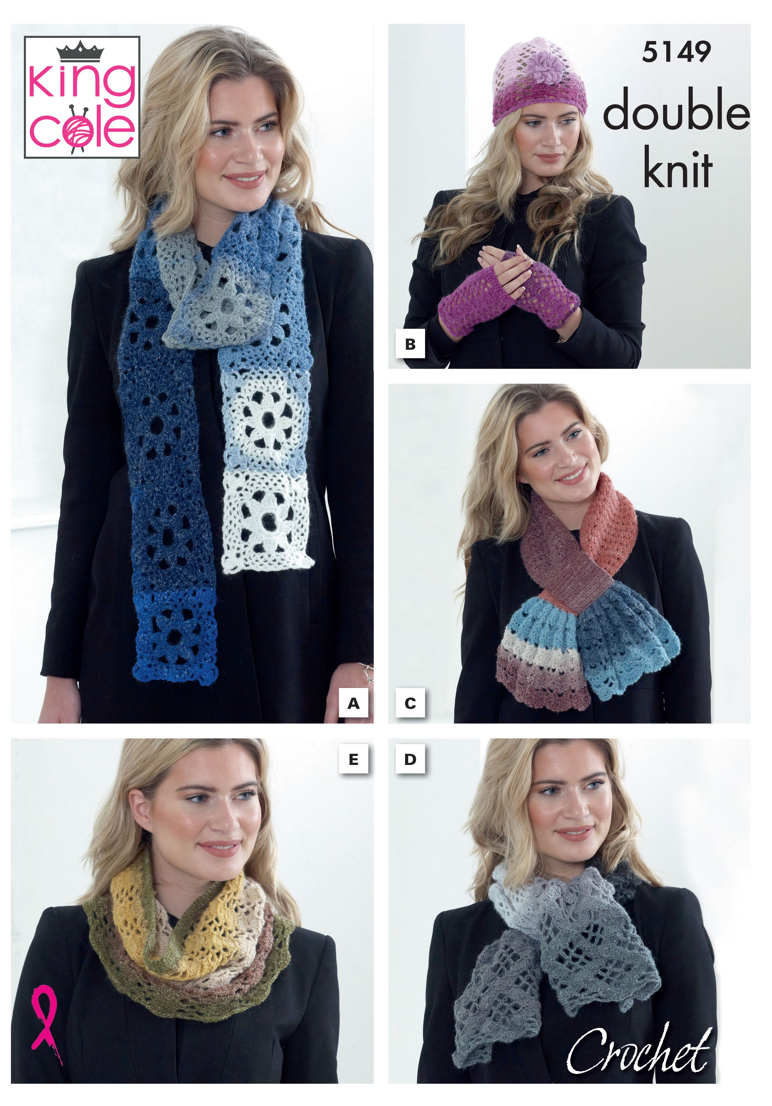 b1fa56ff9157c Pattern 5149 - Accessories Crocheted in Curiosity DK | Mother's Day ...
