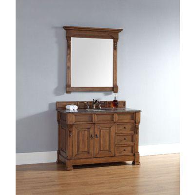 "James Martin 48"" Brookfield Single Bathroom Vanity, Solid Wood, W/ Drawers, Country Oak 147-114-5276"