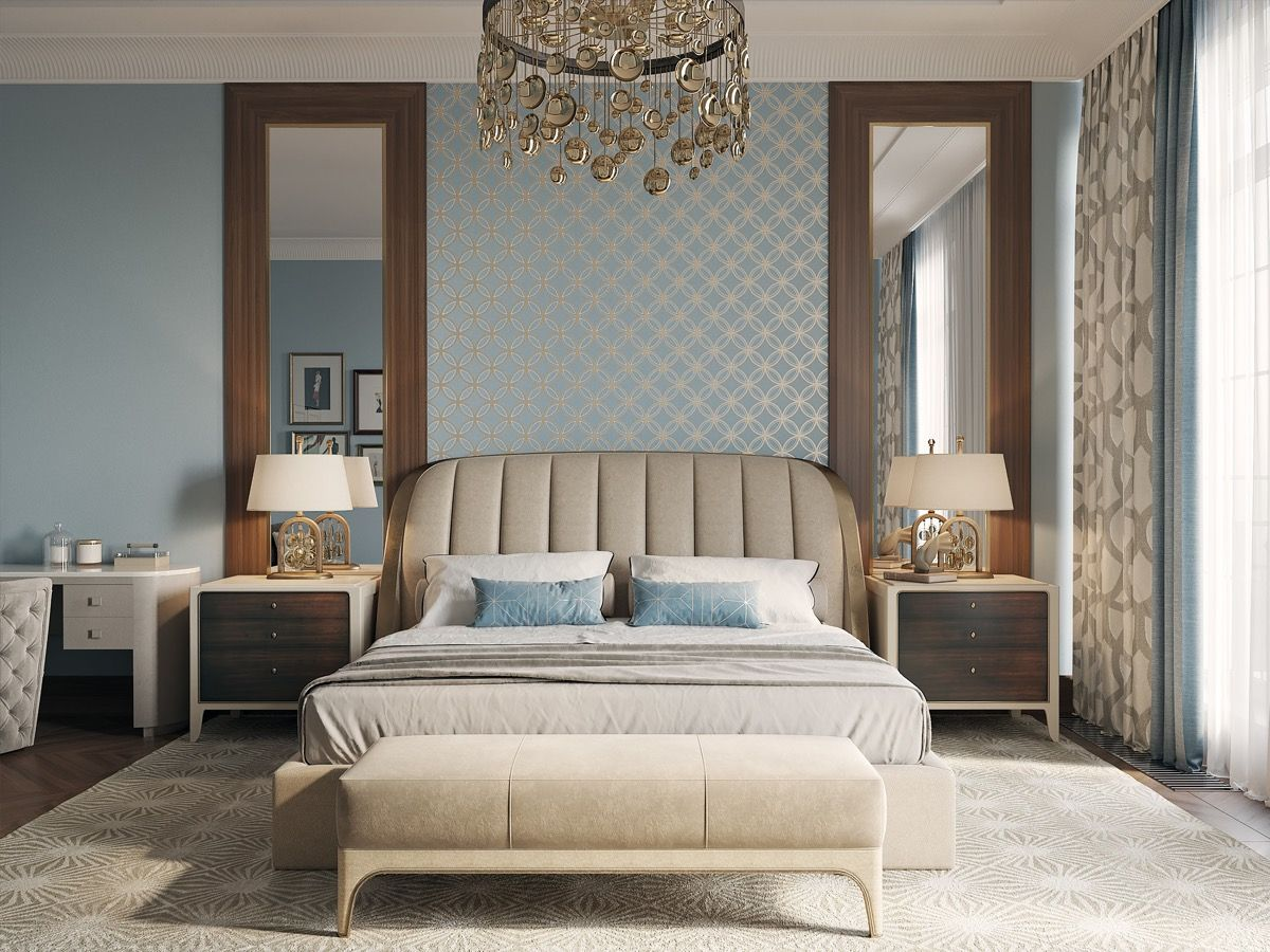 40 Transitional Bedrooms That Beautifully Bridge Modern And Traditional Transitional Bedroom Design Classic Bedroom Design Bedroom Design Transitional bedroom decorating ideas