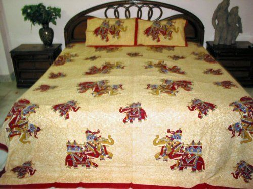 3p Maroon Elephant Print Cotton Bedspreads Throw Indian Bedding by Mogul Interior, http://www.amazon.com/dp/B008EQNHU2/ref=cm_sw_r_pi_dp_TRz6pb07H5MA2$49.99