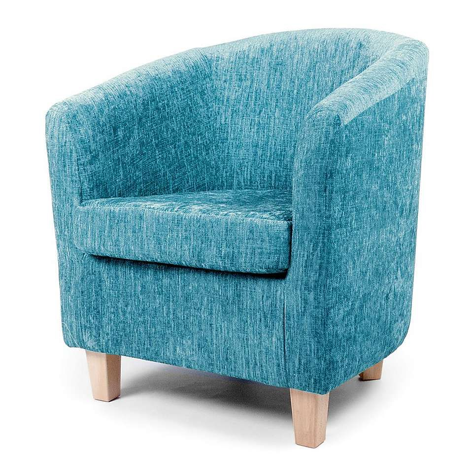 Maurice Teal Chenille Tub Chair | Dunelm | GIRLS\' BEDROOMS ...