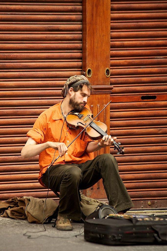 Scottish Street Musician Sokak Sanatcilari Muzisyenler Sanatcilar