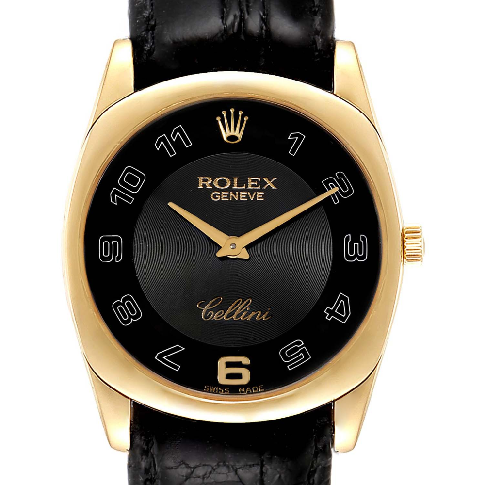 Rolex Cellini Danaos 18k Yellow Gold Black Dial Mens Watch 4233 Swisswatchexpo In 2020 Watches For Men Rolex Cellini Rolex Watches For Men