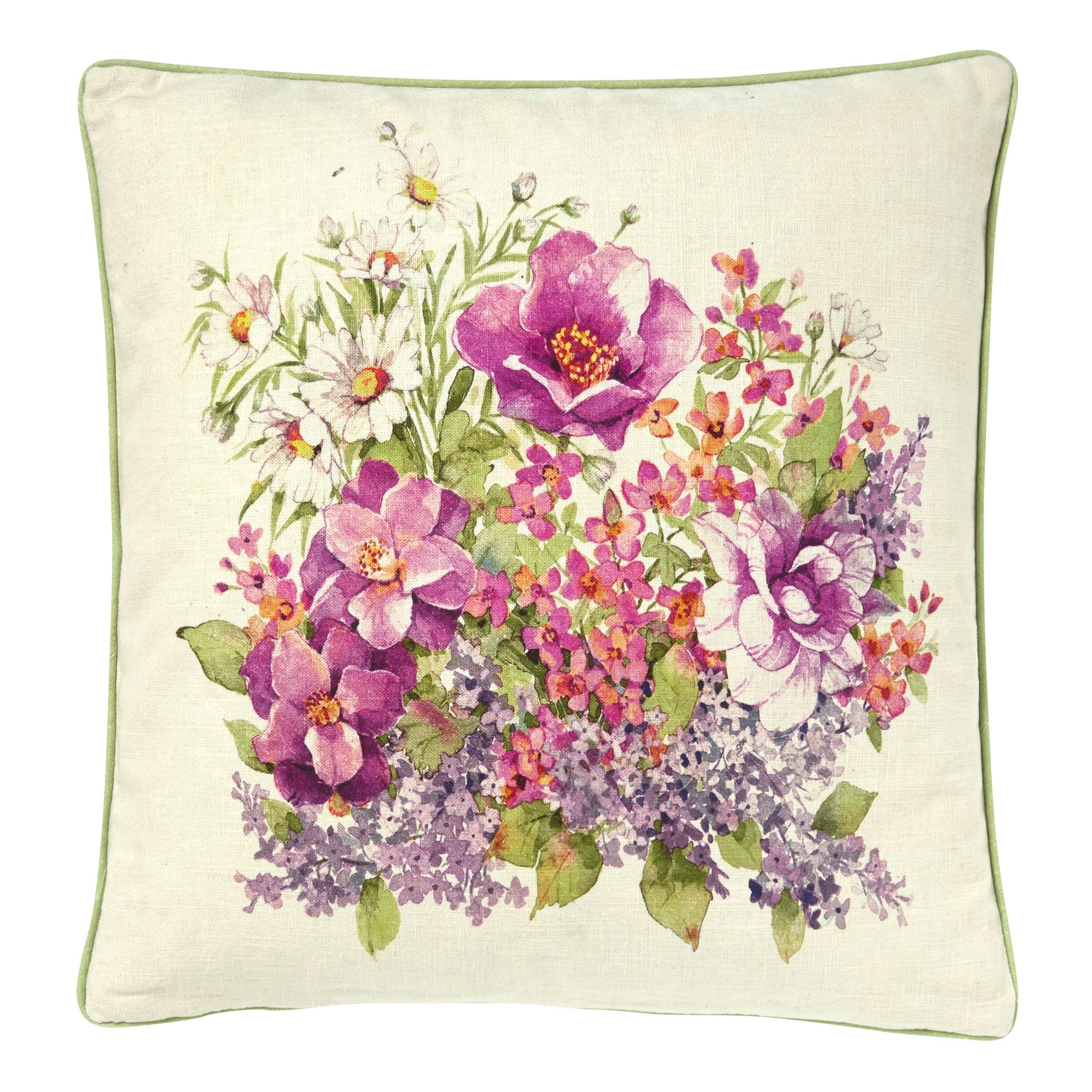 Vintage//Shabby Chic Laura Ashley Peony Blossom Amethyst fabric Cushion Cover
