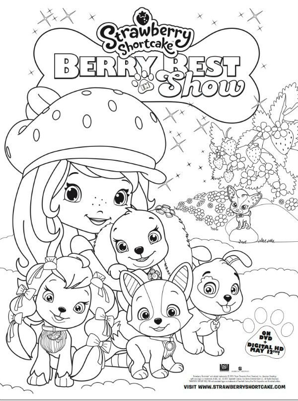 Free Strawberry Shortcake Berry Best in Show Printable Coloring Page ...