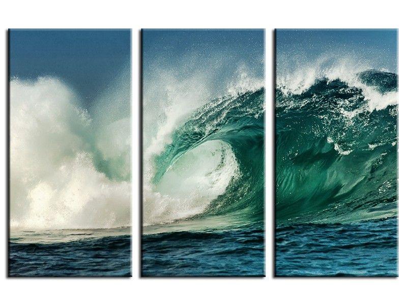 tableau deco photo de grosse vague tableau surf pinterest photos sur toile grand format. Black Bedroom Furniture Sets. Home Design Ideas