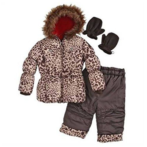 Rothchild Infant Girls Brown Leopard Outerwear Set Snow